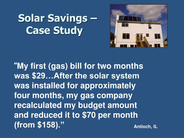 Solar Savings –
