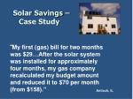 solar savings case study