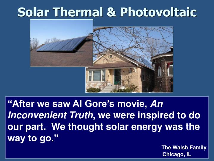 Solar Thermal & Photovoltaic