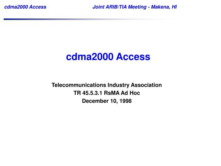 cdma2000 Access