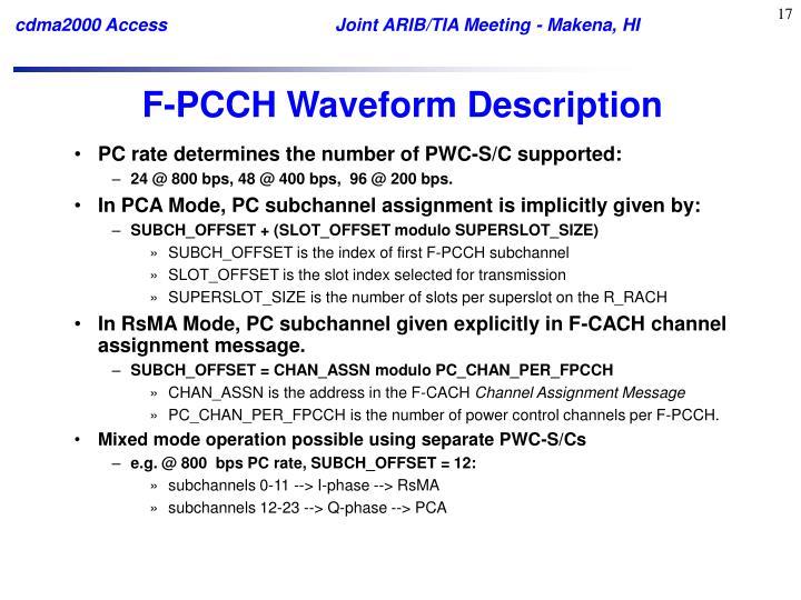 F-PCCH Waveform Description