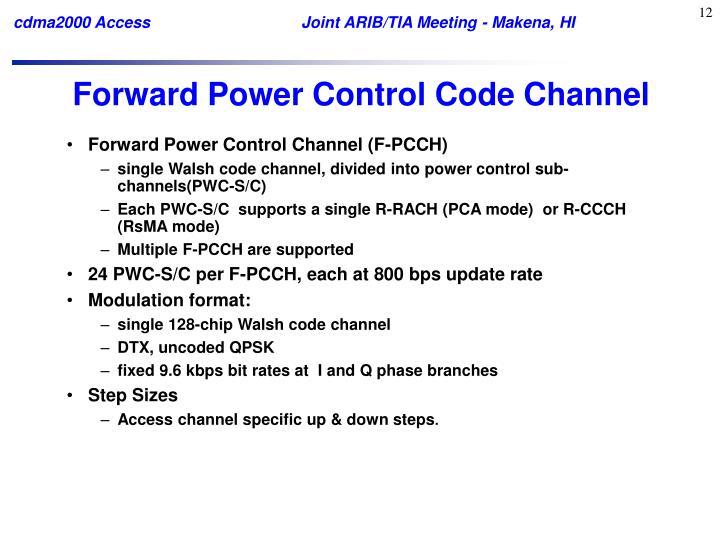 Forward Power Control Code Channel