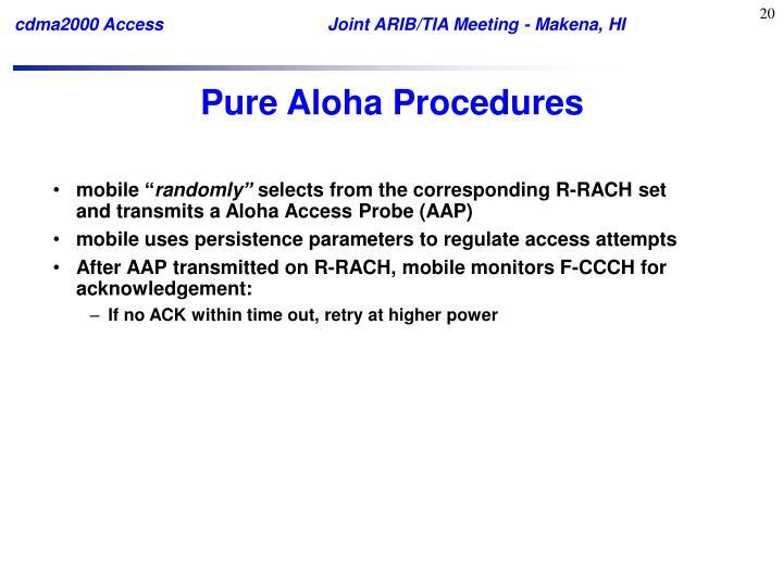 Pure Aloha Procedures