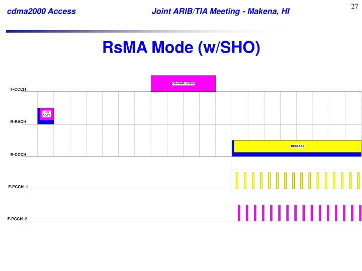 RsMA Mode (w/SHO)