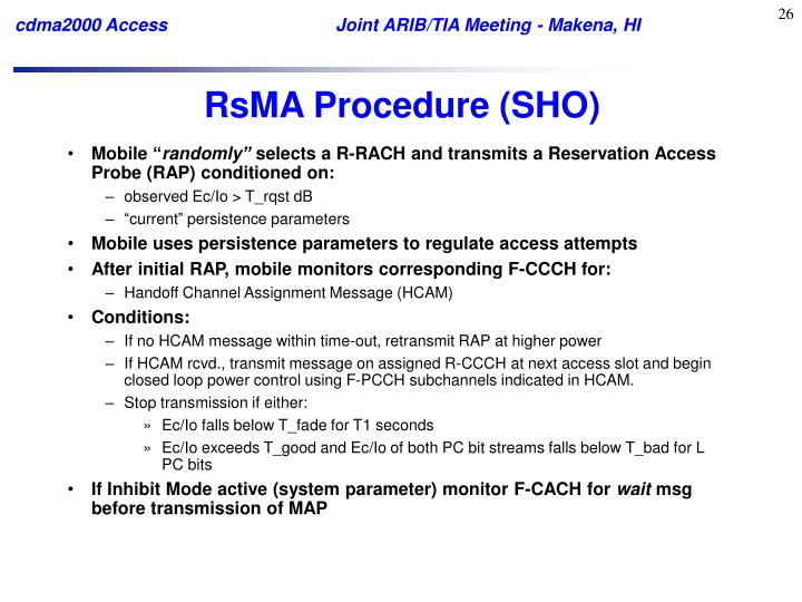 RsMA Procedure (SHO)