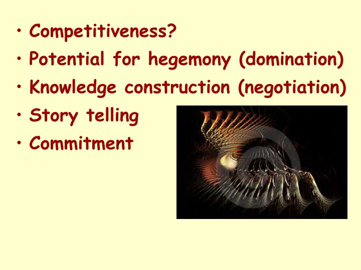 Competitiveness?