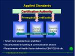 applied standards