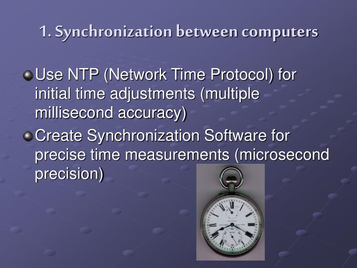 1. Synchronization between computers