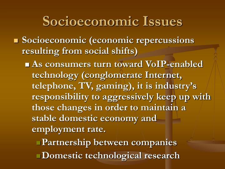 Socioeconomic Issues