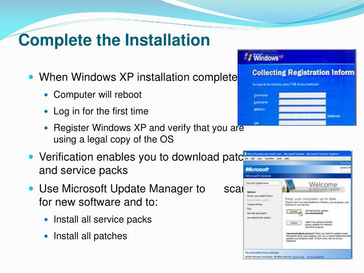 Complete the Installation