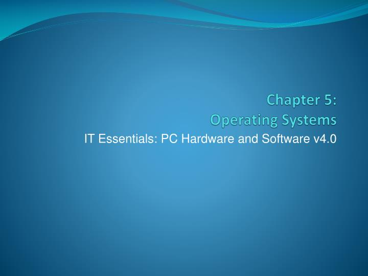 It essentials pc hardware and software v4 0