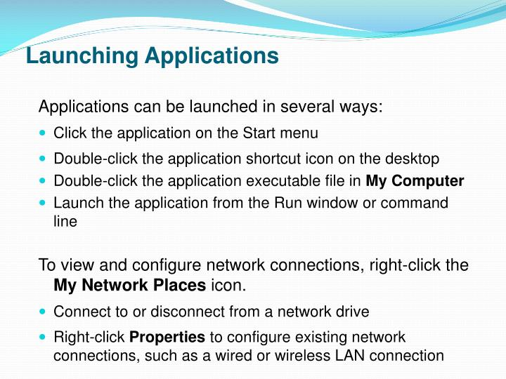 Launching Applications