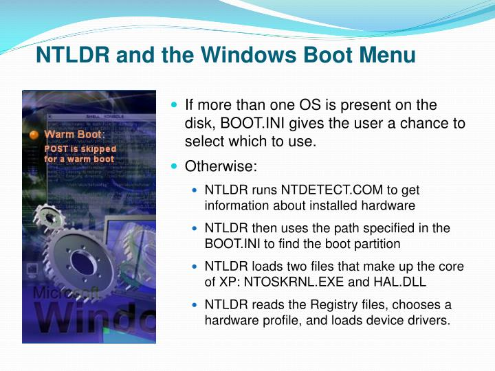 NTLDR and the Windows Boot Menu