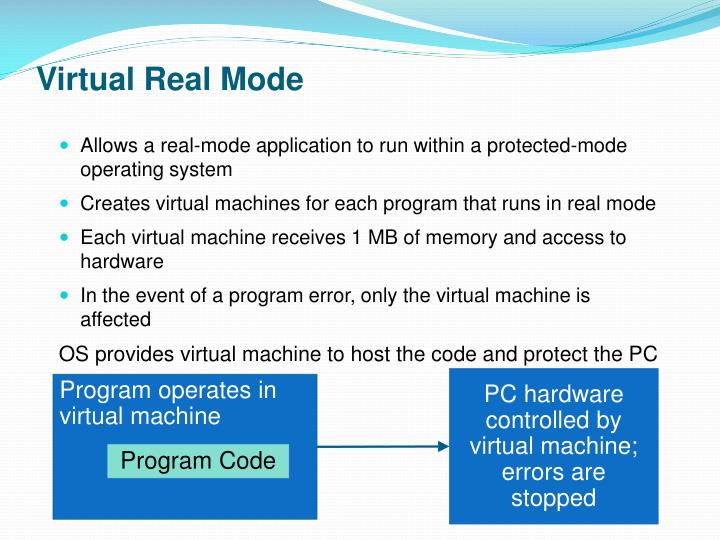 Virtual Real Mode