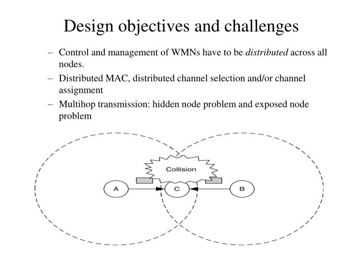 Control and management of WMNs have to be