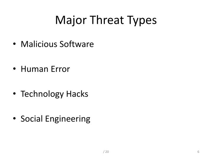 Major Threat Types