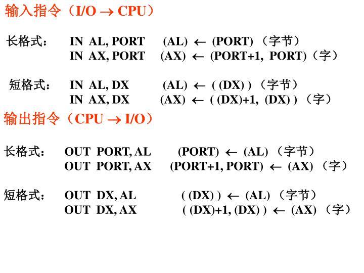 输入指令(