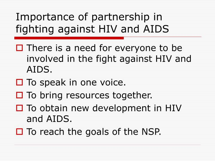 Importance of partnership in fighting against HIV and AIDS