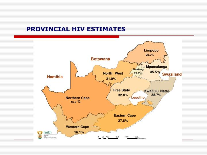 PROVINCIAL HIV ESTIMATES
