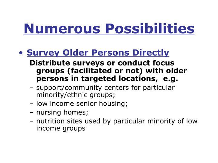 Numerous Possibilities