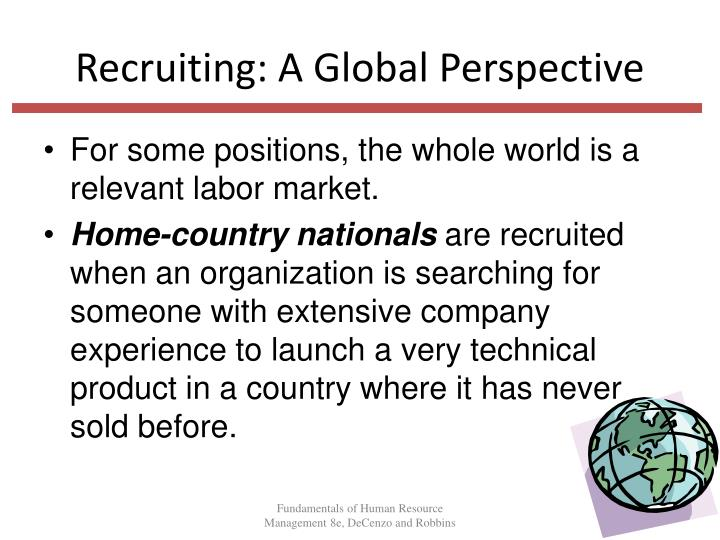 Recruiting: A Global Perspective