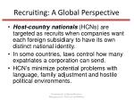 recruiting a global perspective1