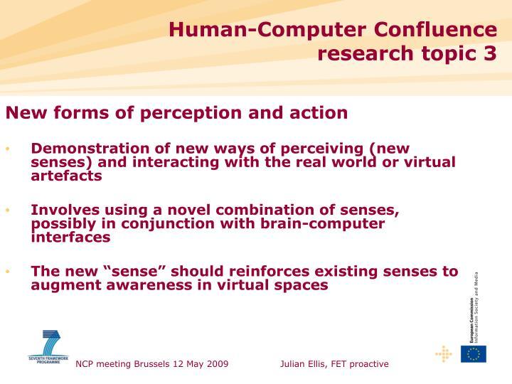 Human-Computer Confluence