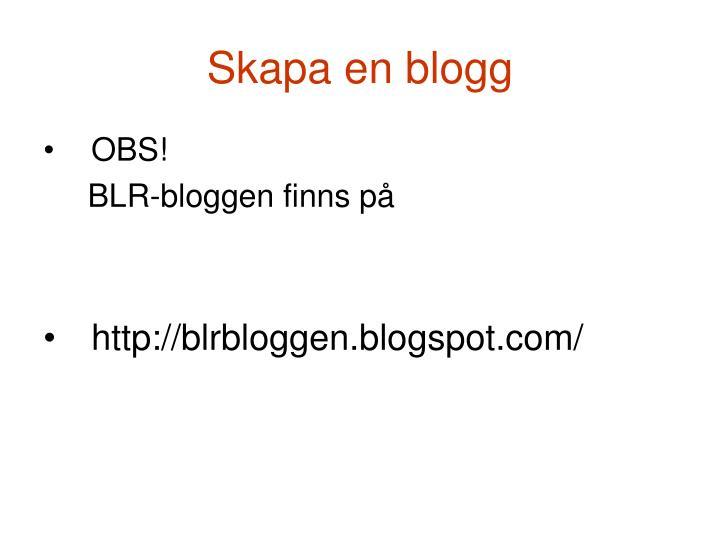 Skapa en blogg