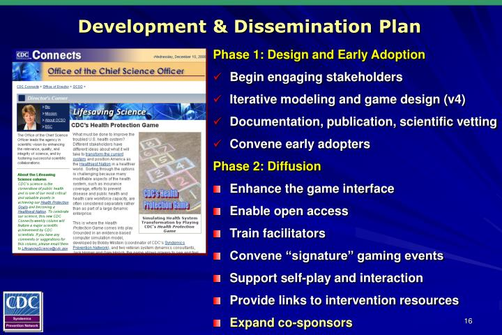 Development & Dissemination Plan