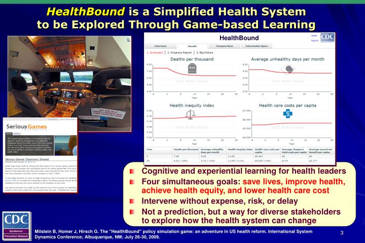 Healthbound is a simplified health system to be explored through game based learning