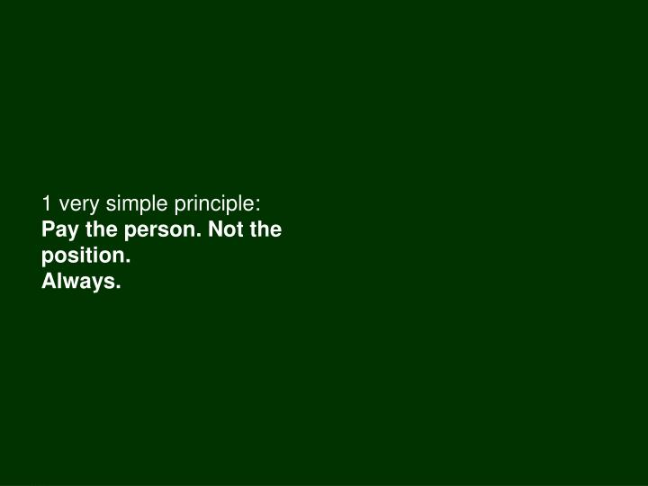 1 very simple principle: