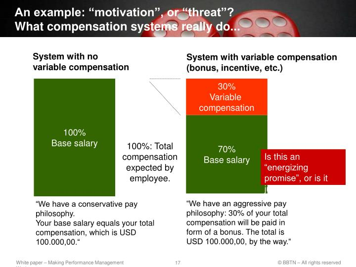 "An example: ""motivation"", or ""threat""?"