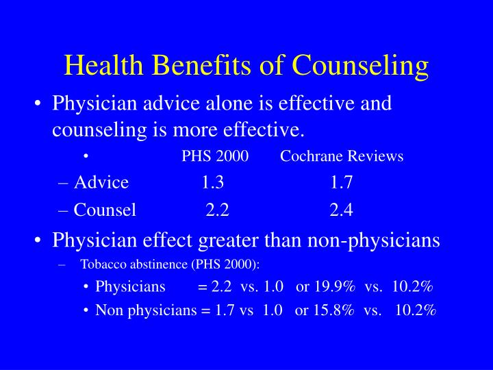 Health Benefits of Counseling