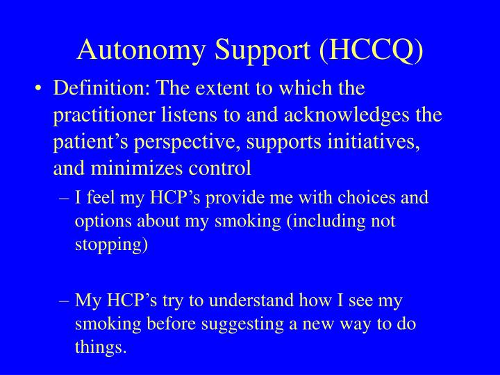 Autonomy Support (HCCQ)
