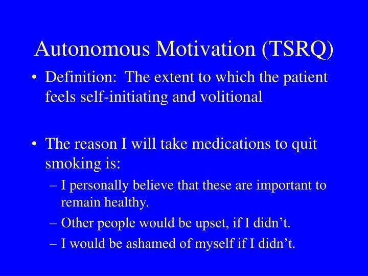 Autonomous Motivation (TSRQ)