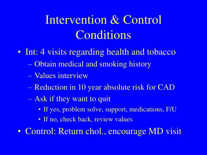 Intervention & Control Conditions
