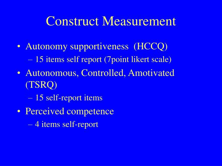 Construct Measurement
