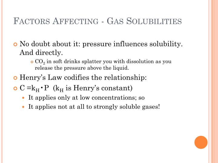 Factors Affecting - Gas