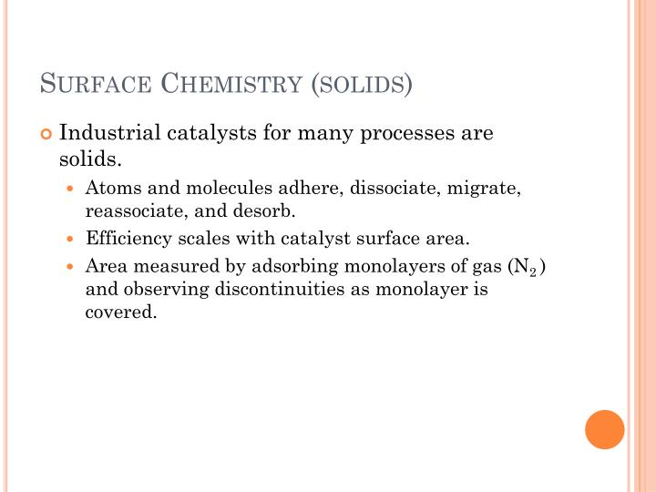 Surface Chemistry (solids)