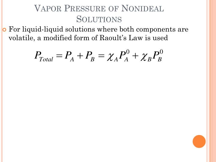 Vapor Pressure of
