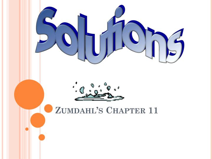Zumdahl s chapter 11
