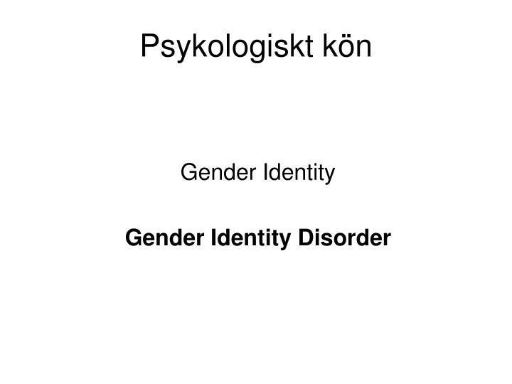 Psykologiskt kön