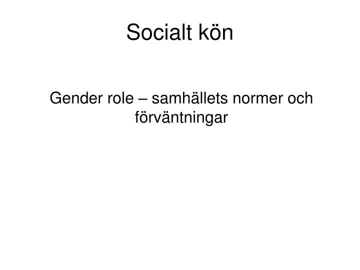 Socialt kön