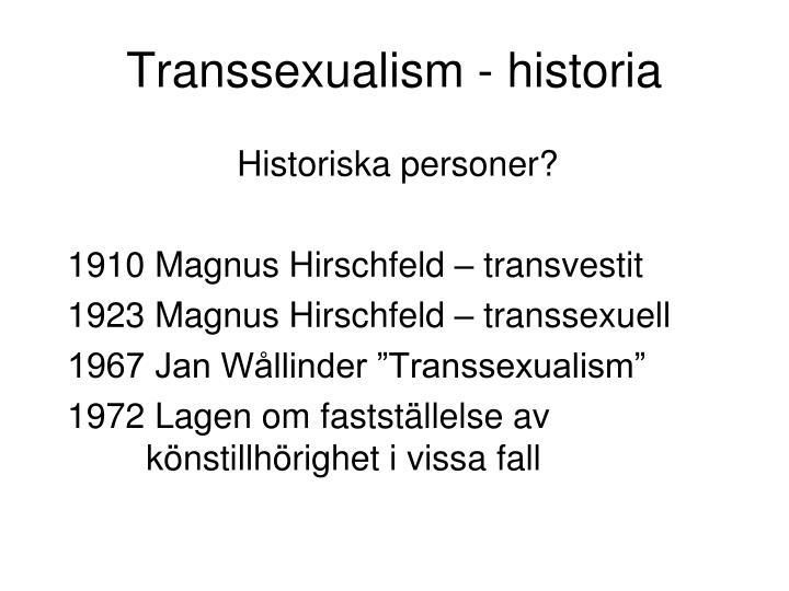 Transsexualism - historia