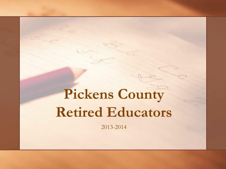 Pickens County Retired Educators