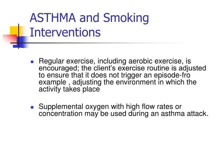 ASTHMA and Smoking Interventions