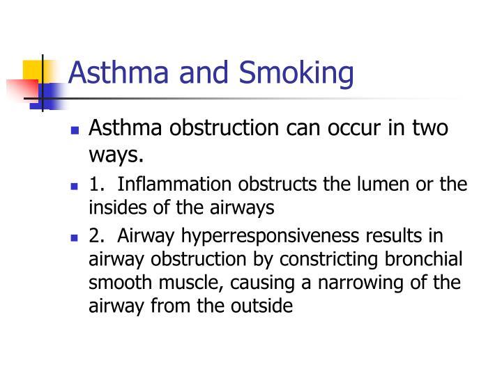 Asthma and Smoking