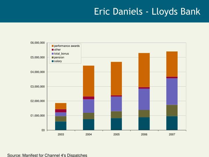 Eric Daniels - Lloyds Bank