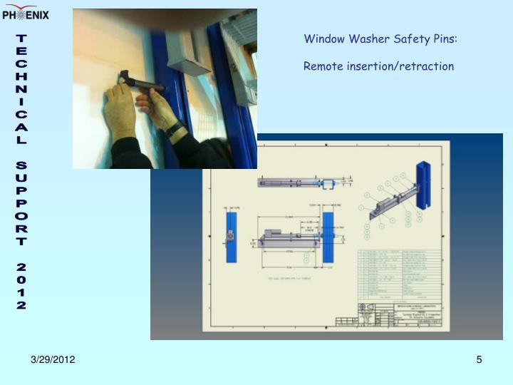 Window Washer Safety Pins: