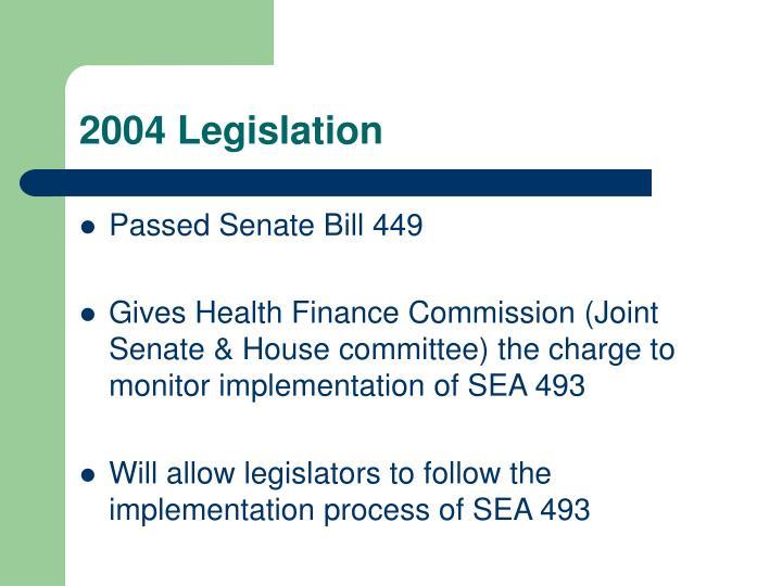 2004 Legislation